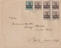 Bayern Brief Mif Minr.5x 137, 138 Kulmbach Gel. Nach Roda - Bayern