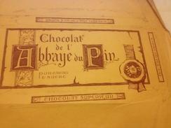 Chocolat De L'Abbaye Du Pin  1924 , Publiciteé - Publicités