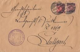 DR Dienst Brief Mif Minr.D53, D56 Zuffenhausen 13.12.20 Geprüft - Dienstpost