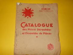 Catalogue/ASTER/Distributeurs Essence Semi-automatiques CEX/Piéces Détachées  Ensembles De Piéces/IVRY/1930-31    CAT176 - Advertising