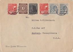Gemeina. Brief Mif Minr.918,943,2x 945,2x 947 Gronau 6.8.48 Gel In USA - Gemeinschaftsausgaben