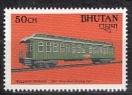 BHUTAN 1988, Trains, Train, Transport,  Railway Wagon, 50ch, 1v, MNH(**). - Treni