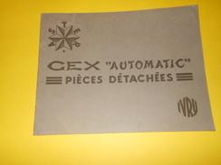 Catalogue/ASTER/Distributeurs D'Essence Automatiques CEX/ Piéces Détachées  Ensembles De Piéces/IVRY/1930-35     CAT177 - Publicités