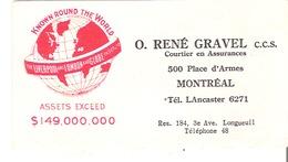 Blotter Buvard  O. Rene Gravel, C.C.S. Courtier En Assurance, Montreal Liverpool And London And Globe $149 000 000 - Bank & Insurance