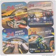 Sous  Bocks :  24  Heures  Du  Mans ( Le  Mans)  Voiture  - Moto  Lot De  4  ! - Portavasos
