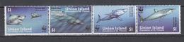 Union Island 2002,4V In Strip,WWF,shortfin Mako,fish,vissen,fische,poissons,peche,peces,pesce, MNH/Postfris(L3015) - Vissen