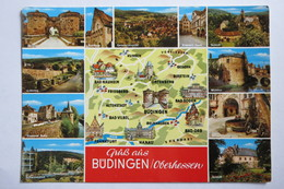 "(9/4/38) AK ""Gruß Aus Büdingen"" Oberhessen, Mehrbildkarte Mit 11 Ansichten - Wetterau - Kreis"