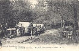 HOURTIN 17- TRACTEUR DANS LA FORET DE CONTAU   Belle Carte Animée - France