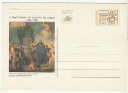 Postal Stationery * II Centenario Da Casa Pia De Lisboa - Ganzsachen