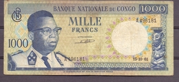 BC Belgian Congo Kongo   1000 Fr Kasavubu - Billets
