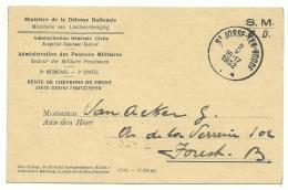 Carte Défense Nationale En Franchise 8 V 1932 - Rente De Chevrons De Front - Marcophilie