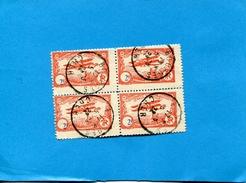 BOURGES-vignettes Poste Par Avion 4&5 Juin 1922 -bloc 4  Vignettes 2fr Orange Oblit Bourges 4 Juin ** état Impeccables - Commemorative Labels