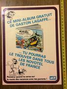 PUB PUBLICITE GASTON LAGAFFE FRANQUIN MINI ALBUM HOTEL NOVOTEL - Old Paper
