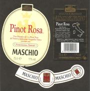 ITALIA - Etichetta Vino PINOT ROSA DA UVE DI PINOT NERO Cantina MASCHIO Di Visnà Rosato Del VENETO - Vino Rosato