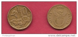 SOUTH AFRICA, 2003, 3 Off Nicely Used Coins 10 Cent C2117 - Zuid-Afrika