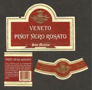 ITALIA - Etichetta Vino PINOT NERO ROSATO Cantina SAN MATTEO Di Creazzo Rosato Del VENETO - Vino Rosato