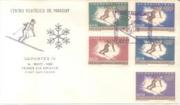 DEPORTES DE INVIERNO ESQUI SKI PARAGUAY SERIE Completa CHAMONIX 1924 ST. MORITZ 1928 LAKE PLACID 1932 GARMISCH PARTENKIR - Winter 1924: Chamonix