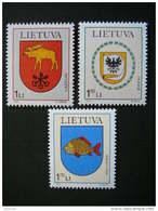 Town Arms. Lietuva Litauen Lituanie Litouwen Lithuania 2001 MNH # Mi. 774/6 - Lithuania