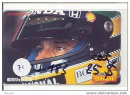 Télécarte AYRTON SENNA (71) Formula 1 Voiture Auto Car Racing Phonecard Japon - Auto's