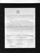 Pycke De Peteghem (senator En Burgemeester Petegem) Née De Robersart +1916 Bruxelles Evere D'Oultremont D'Henripret - Partitions Musicales Anciennes