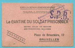 Kriegsgefangenensendung Van SOLTAU Naar BRUXELLES , Stempel S.P.B.
