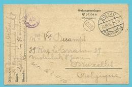 Kriegsgefangenensendung Van SOLTAU Naar BRUXELLES , Stempel GEPRUFT