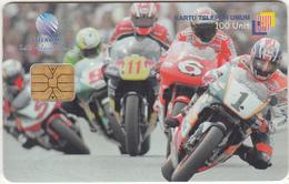 INDONESIA(chip) - Motorcycle Racing, Telkom Telecard 100 Units, Tirage 50000, Used - Indonesien