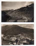 2 Cartoline Set Lotto Ponte Di Legno Brescia Alta Valle Camonica Veduta Generale FP 1 V 1927? - Other Cities