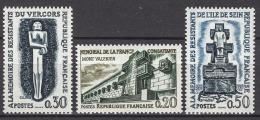 FRANCE 1962 -  SERIE Y.T. N° 1335 / 1336 / 1337 - 3 TP NEUFS** - France