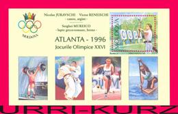 MOLDOVA 1996 Sport Archery Weightlifting Wrestling  Medal Winners Olympics Atlanta USA S-s Mi Bl.7I(199) Sc199a MNH - Zomer 1996: Atlanta