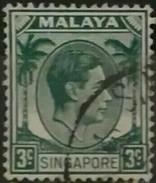 SINGAPUR - MALASIA 1948 -1952 King George VI. USADO - USED. - Singapur (1959-...)