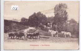 VILLECRESNES--  LA PRAIRIE- SCENE DE LABOURAGE - Villecresnes
