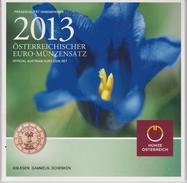 Coin Austria Coinage 2013 - 0.01 - 2  Euro UNC - Gentian - Autriche