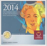 Coin Austria Coinage 2014- 0.01 - 2  Euro UNC - Bertha Von Suttner - Oostenrijk