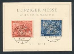Leipziger Messe    Beleg     (  G9043 ) Siehe Foto - Zone Soviétique