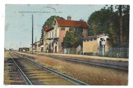 CPA - ROHRBACH LES BITCHE, LA GARE - Moselle 57 - Circulé 1938 - Stations Without Trains