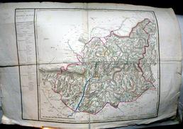04 BASSES ALPES PREMIERE CARTE DEPARTEMENTALE GEOGRAPHIQUE  ATLAS 1810 CONTOURS COLORES DOCUMENT ANCIEN ORIGINAL - Cartes Géographiques