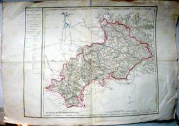 05 HAUTES ALPES PREMIERE CARTE DEPARTEMENTALE GEOGRAPHIQUE  ATLAS 1810 CONTOURS COLORES DOCUMENT ANCIEN ORIGINAL - Geographical Maps