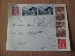 Devant De Lettre Le Tréport 13/07/1962 à Paris Les N° 489 Mineurs (paire); N° 976Lourdes (paire);812 Et 483 = 0,25 F  TB - Curiosidades: 1960-69 Cartas