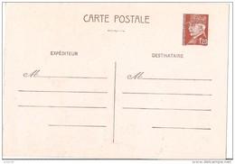 Entier Postal Pétain - 1,20f Marron - 1f20 - Cartes Postales Types Et TSC (avant 1995)