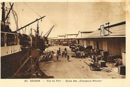 Viet-Nam - Saïgon - Vue Du Port - Quais Des Chargeurs Réunis - Edition Nadal - Carte Non Circulée - Viêt-Nam