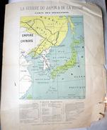 GUERRE RUSSO JAPONAISE  CARTE GEOGRAPHIQUE ILLUSTREE DES OPERATIONS  ATLAS   DOCUMENT ANCIEN ORIGINAL RUSSIA - Geographical Maps