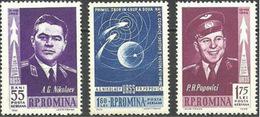 RUMANIA 1962 Mi:RO 2096/8, Yt:RO PA157/9, Rom:RO 547a-C** - Aéreo