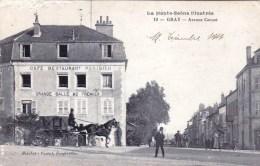 70 - Haute Saone - GRAY -  Avenue Carnot - Café Restaurant Parisien - Gray