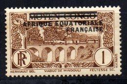 Col3 :  AEF Afrique : N° 1 Neuf X MH , Cote : 0,35€ - A.E.F. (1936-1958)