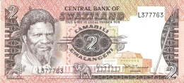 SWAZILAND   2 Emalangeni   ND (1984)   Sign.4   P. 8b   UNC - Swaziland
