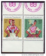 DDR 1971 Sorbische Mädchen-MiNr 1723-1724 - Mit DWP Firmensiegel - Ungebraucht