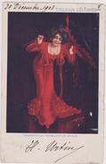 Cpa,AUTOGRAPHE,SIGNATURE,DEDICACE,ARTISTE,LADY,COSTUME ROUGE,SCARLET VERMILLON ,1903,DE BRYSON - Autographs