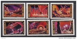 Cuba 1974 Space Set Of 6 MNH - Espace