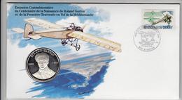 Enveloppe FDC Et Médaille En Argent Massif Roland GARROS - FDC